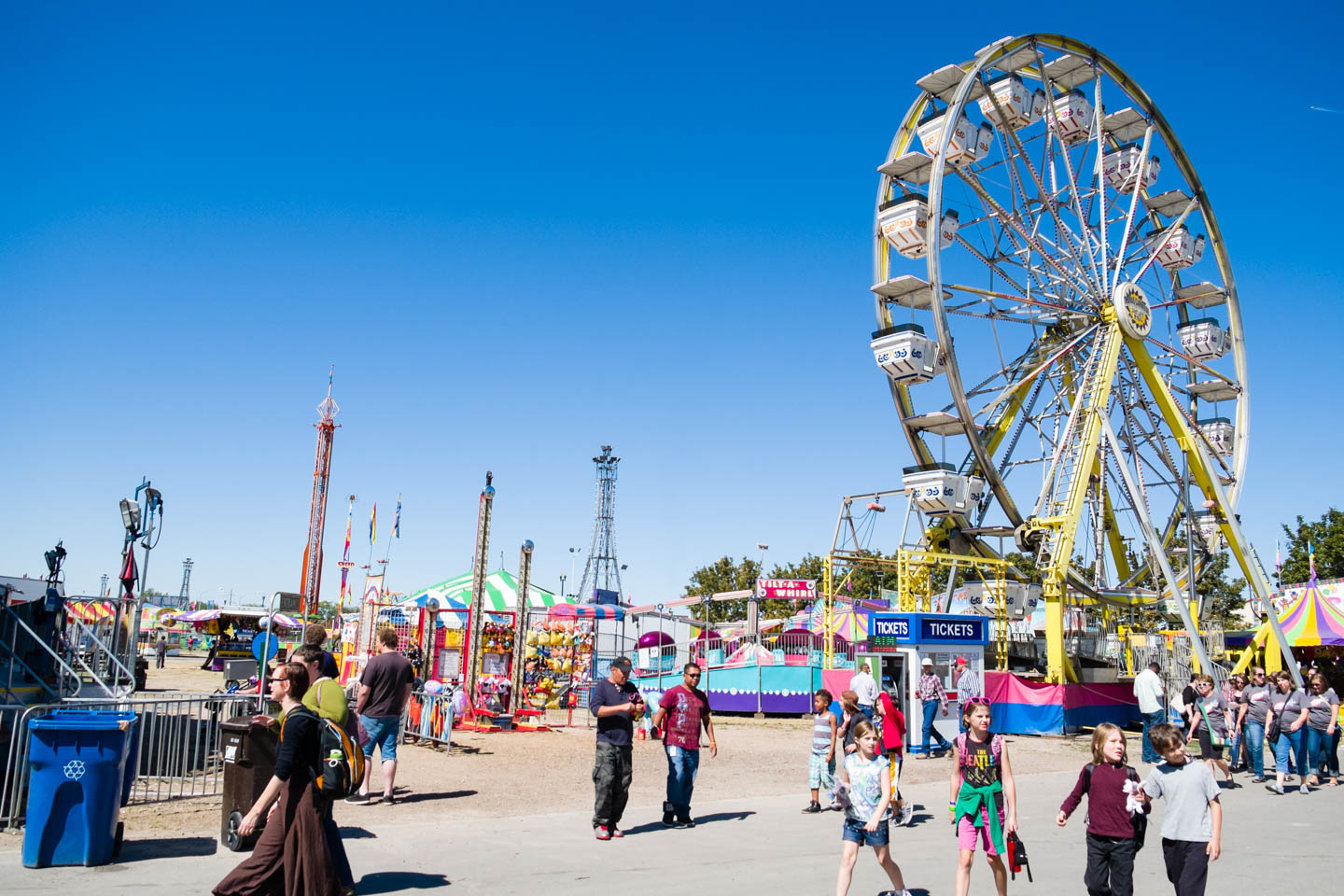 Ferris Wheel and rides at the Utah State Fair