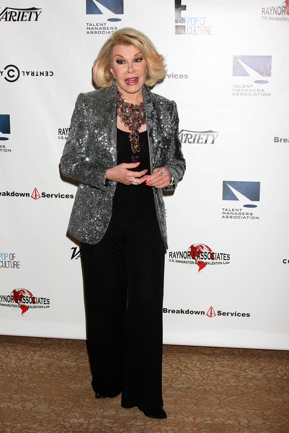 Joan Rivers on the Red Carpet. Photo from Shutterstock.