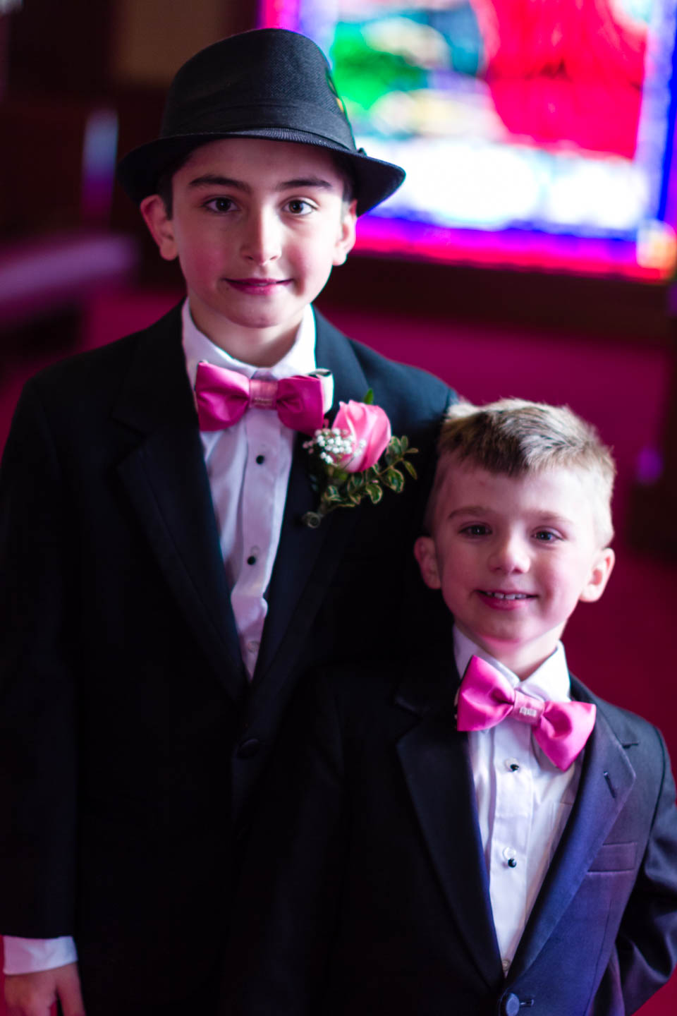 Kids ready for their dad's wedding