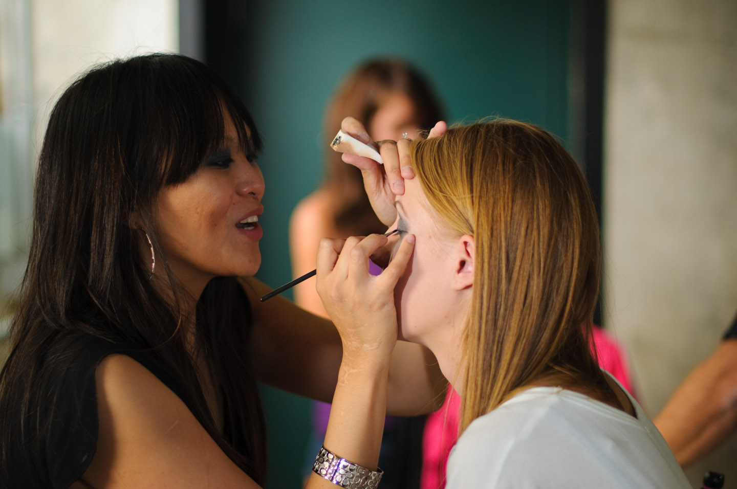 Laa was the makeup artist for a number of the women models