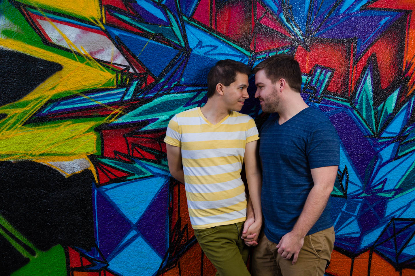 Lots of fun graffiti for portraits and it makes the photos look vivid with color and contrast