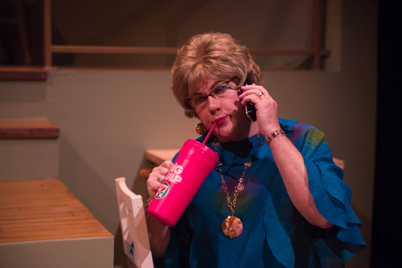 Sister Dottie S. Dixon sips a Big Gulp