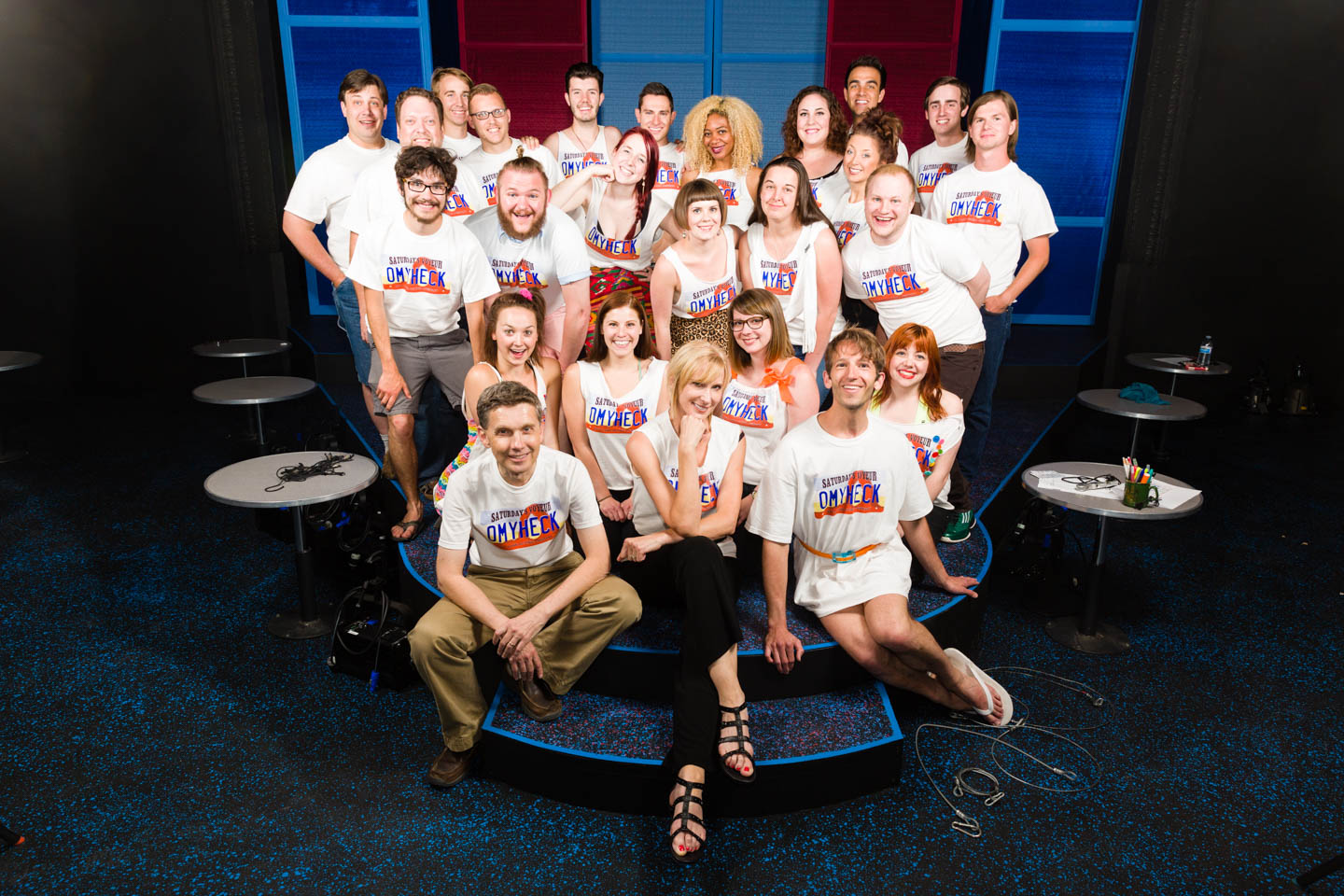 Staff of the Salt Lake Acting Company and the cast of Saturday's Voyeur
