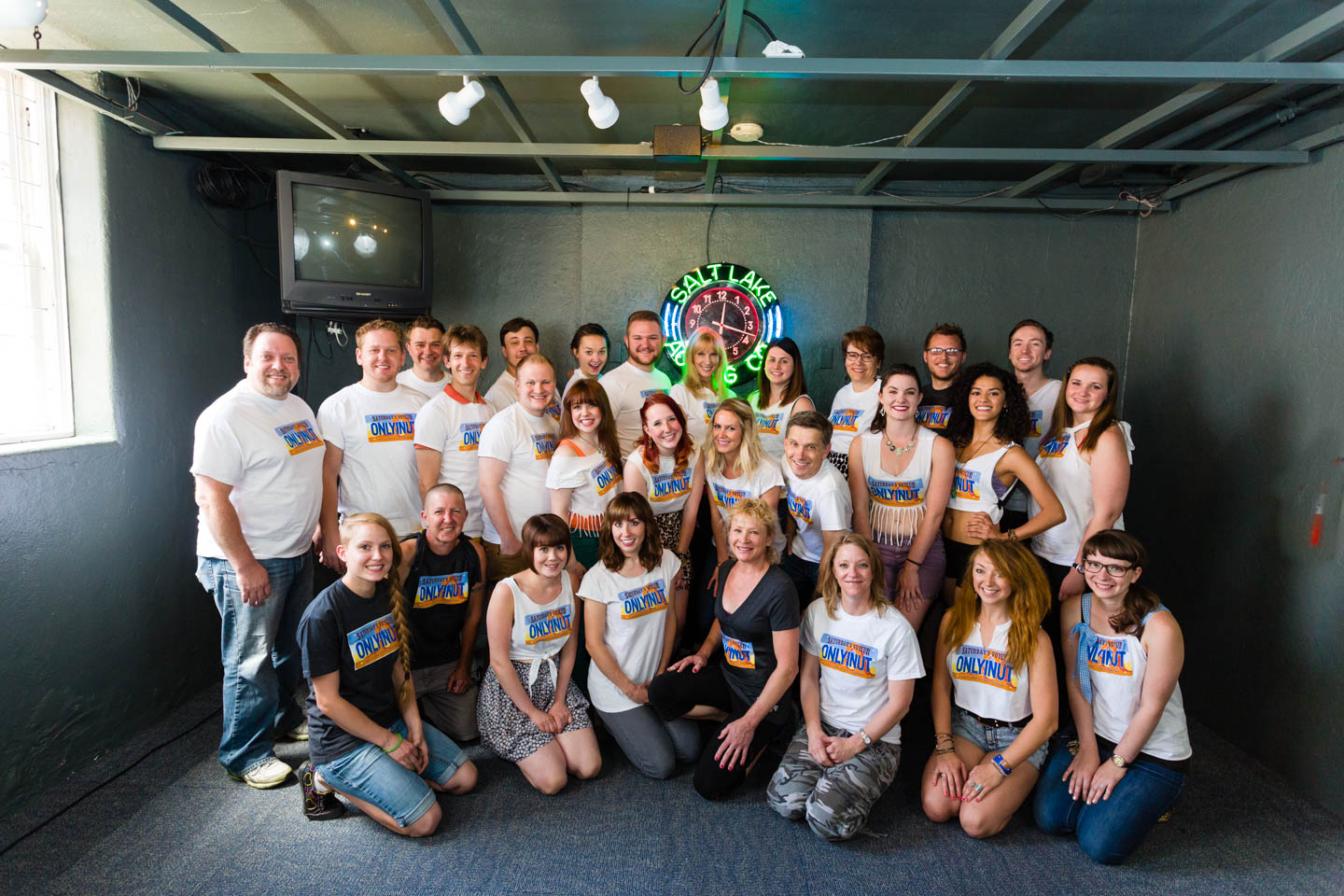 The staff of Salt Lake Acting Company and the cast of Saturday's Voyeur 2013