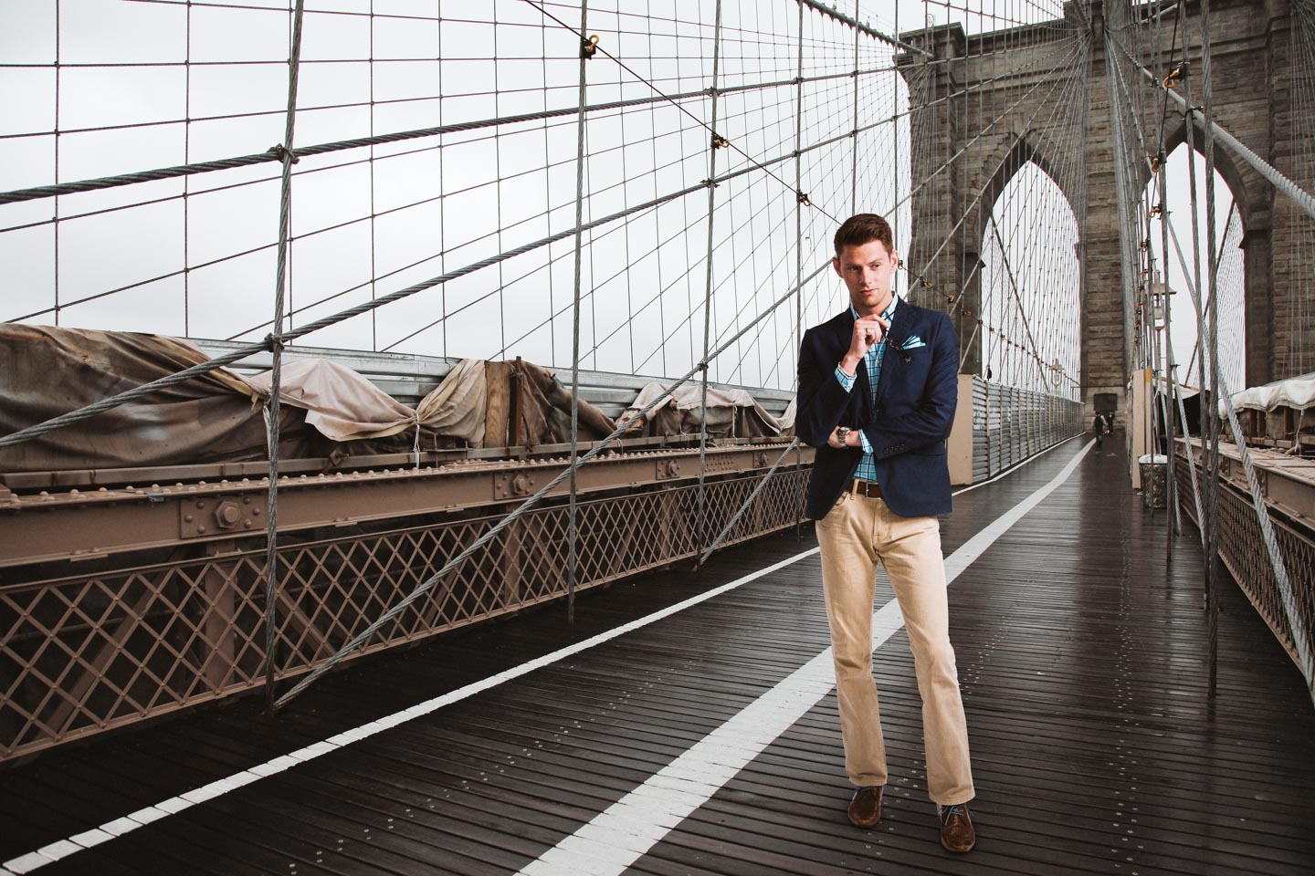 Hunter on the Brooklyn Bridge