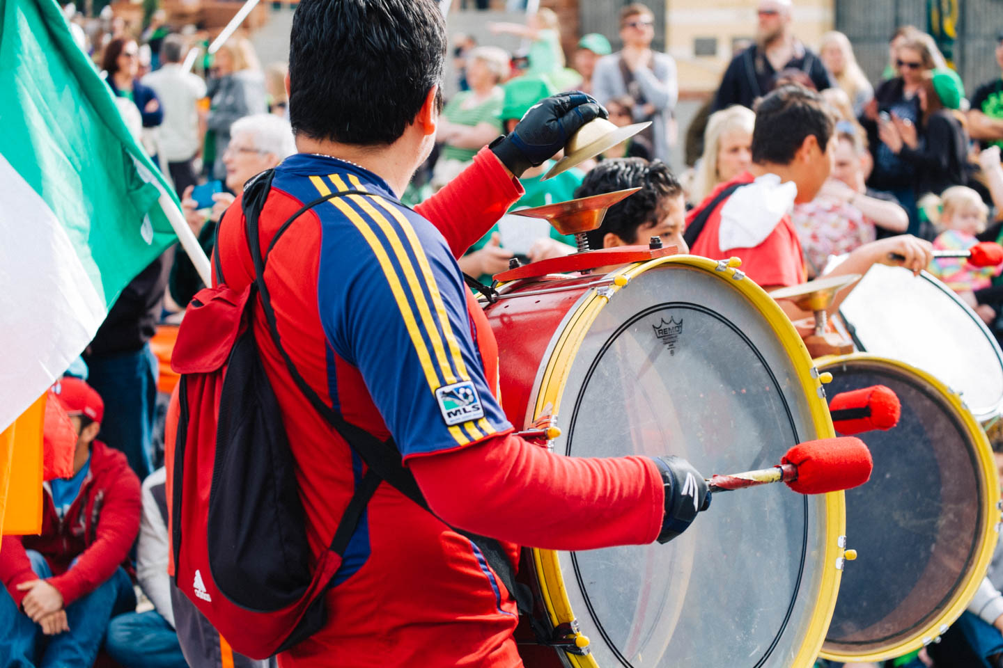 Drummers of the Real Salt Lake soccer team