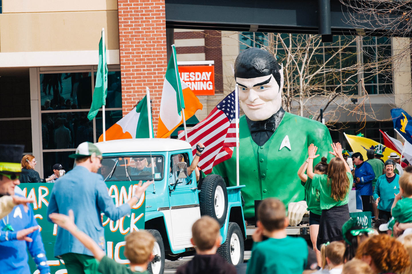 A tribute to Doctor Spock in the parade