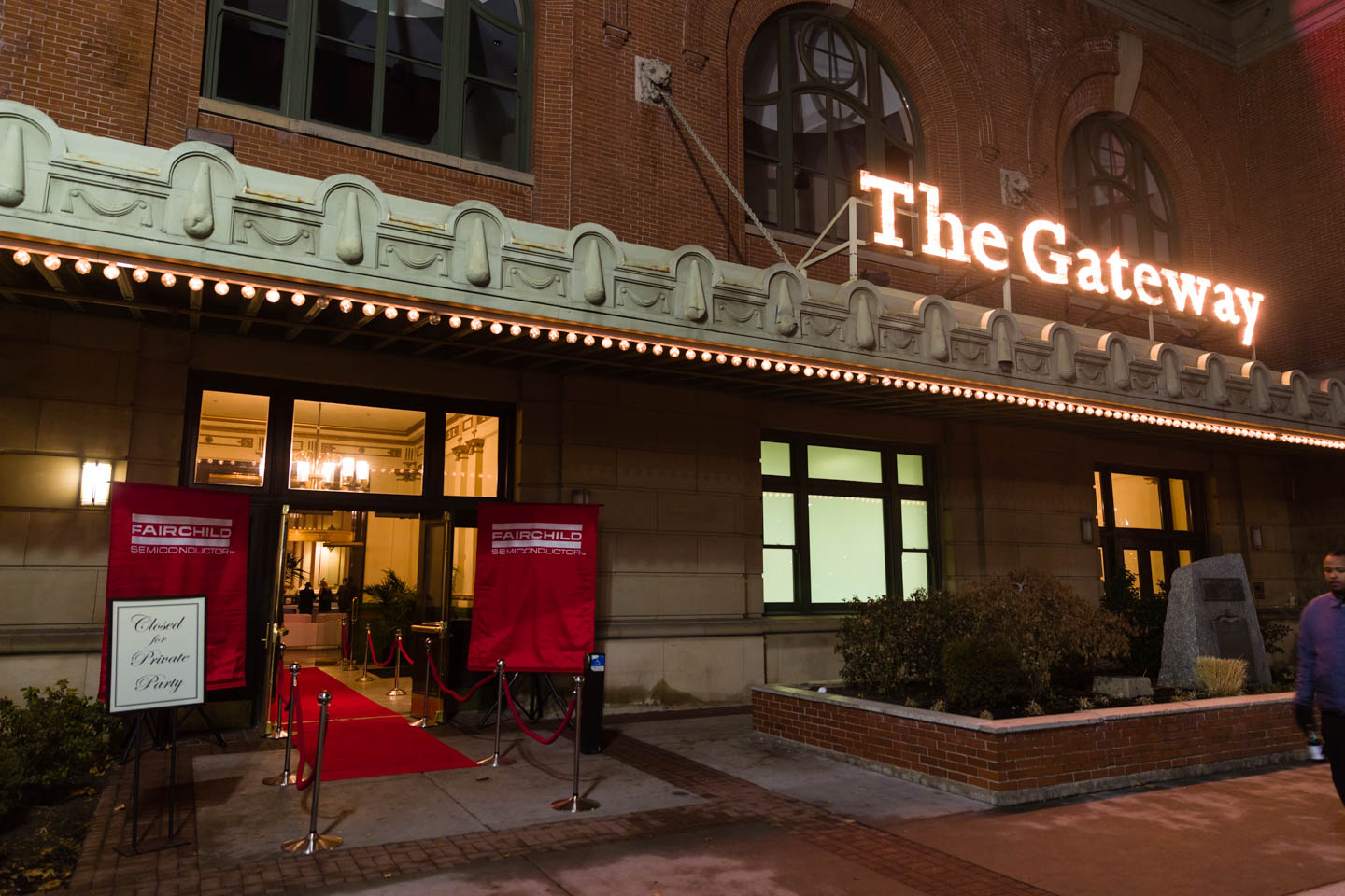 Red carpet entrance at the Gateway's Grand Hall which was part of the Union Pacific