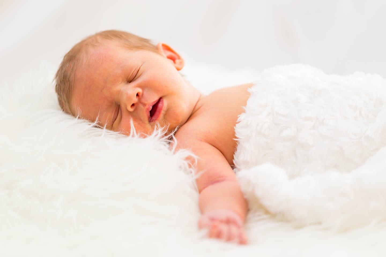 Angelic white for the newborn Levi