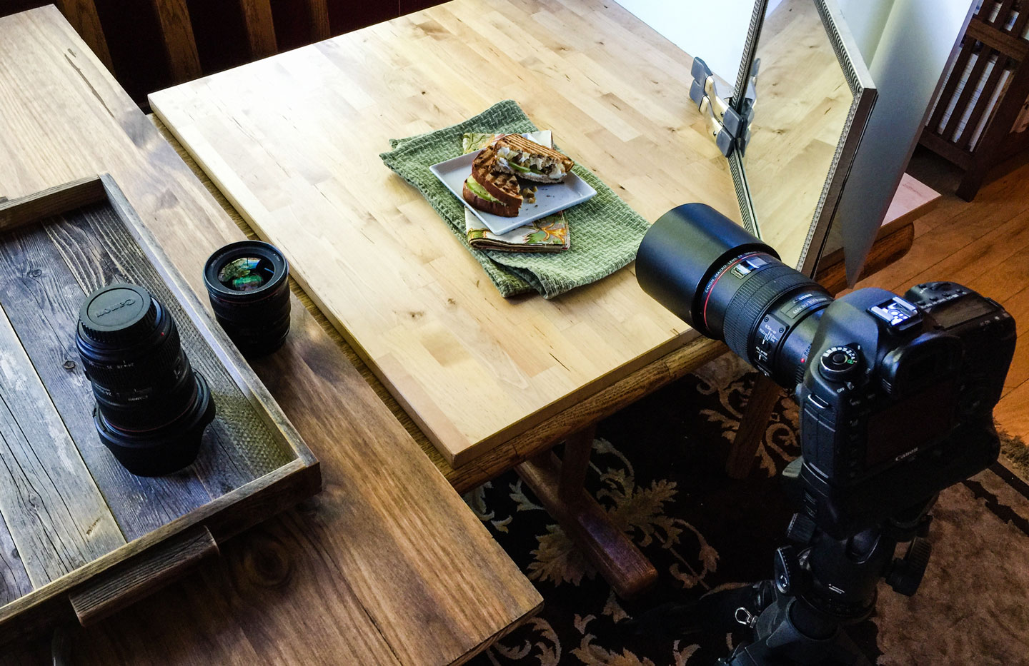 Behind the scenes of a food photography shoot