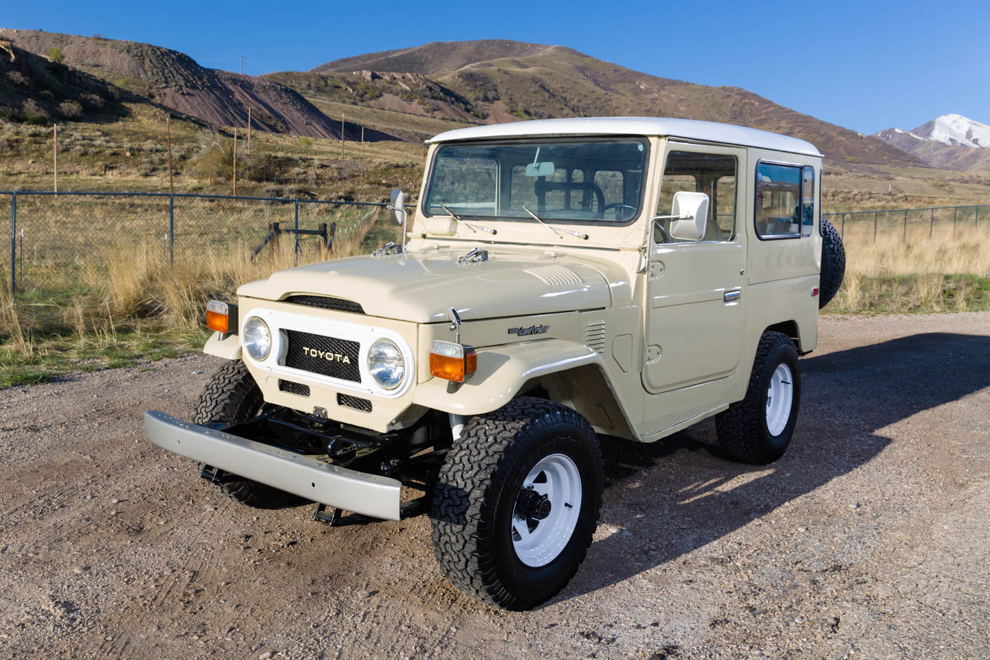 Beige Toyota Land Cruiser