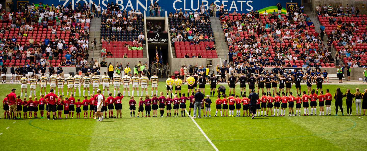 Pregame Ceremony for the Varsity Cup