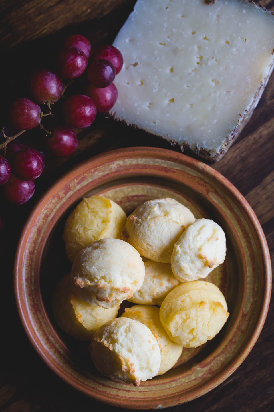 Spanish machego with rosemary. Also pictured with pao de queijo