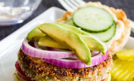 Zucchini Garden Burgers With Avocado Aioli