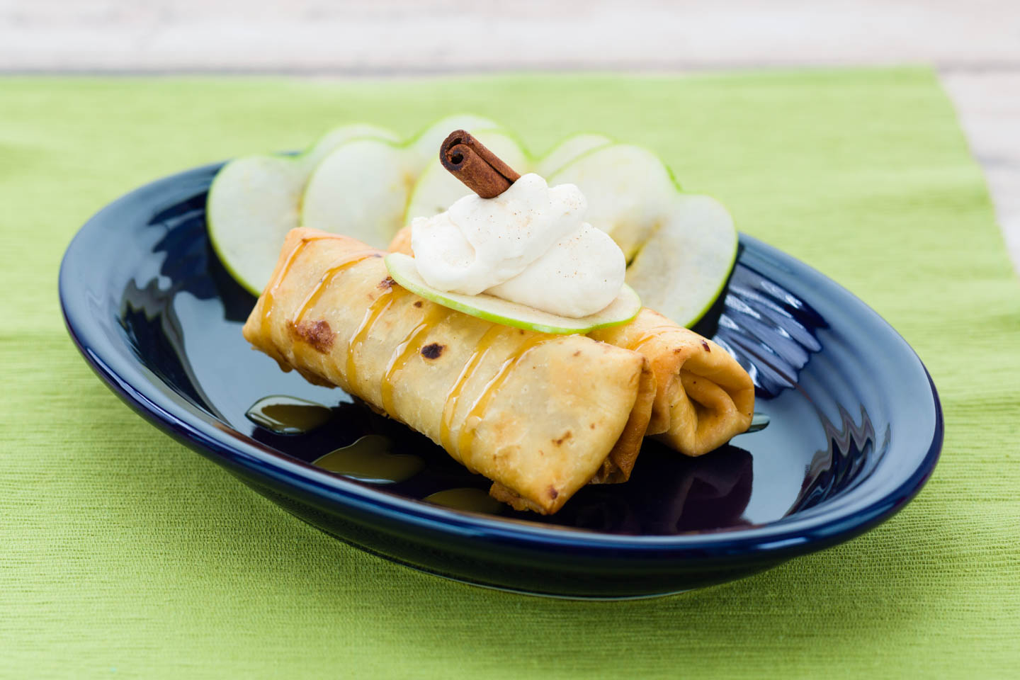 Mini Apple Chimichangas Burrito