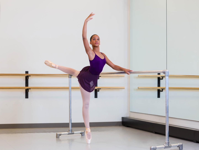 Ballet West students in studio