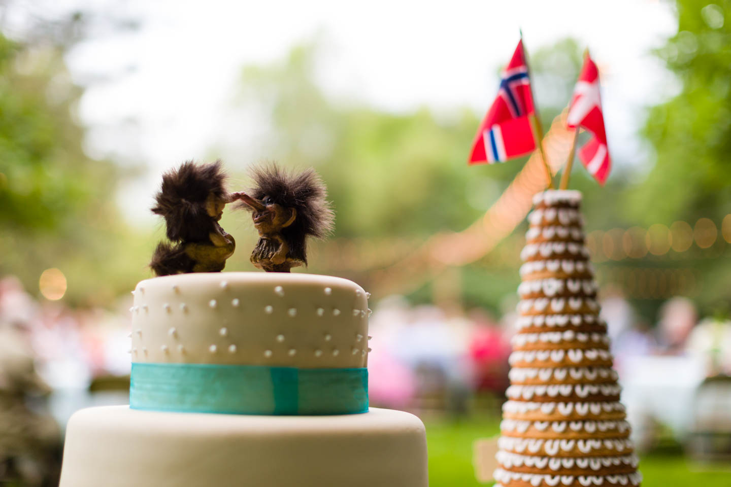 Danish and Norwegian wedding cakes