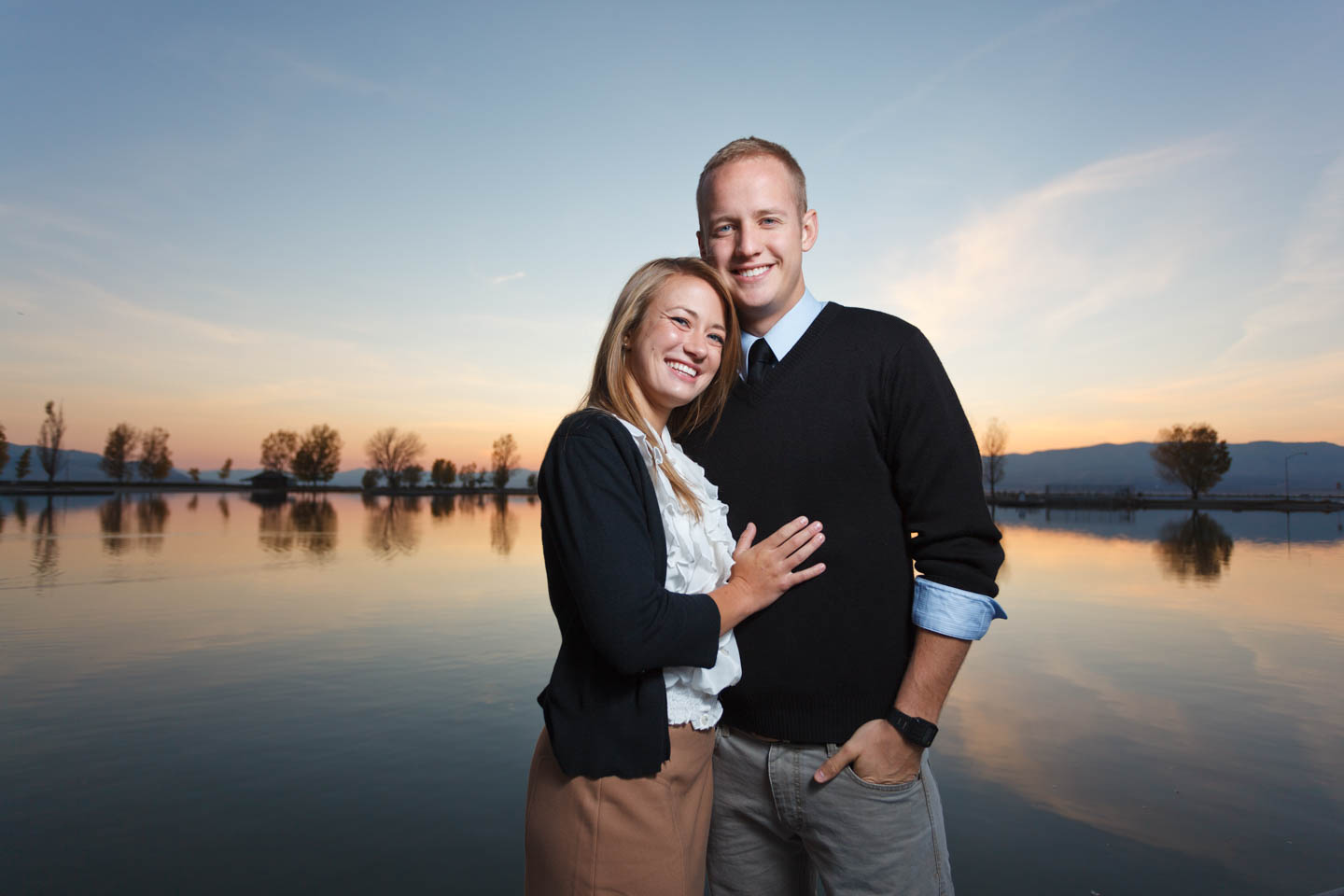 Engagement photography by Utah Lake