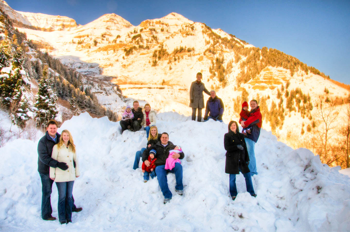 Family portraits in the mountains of Sundance
