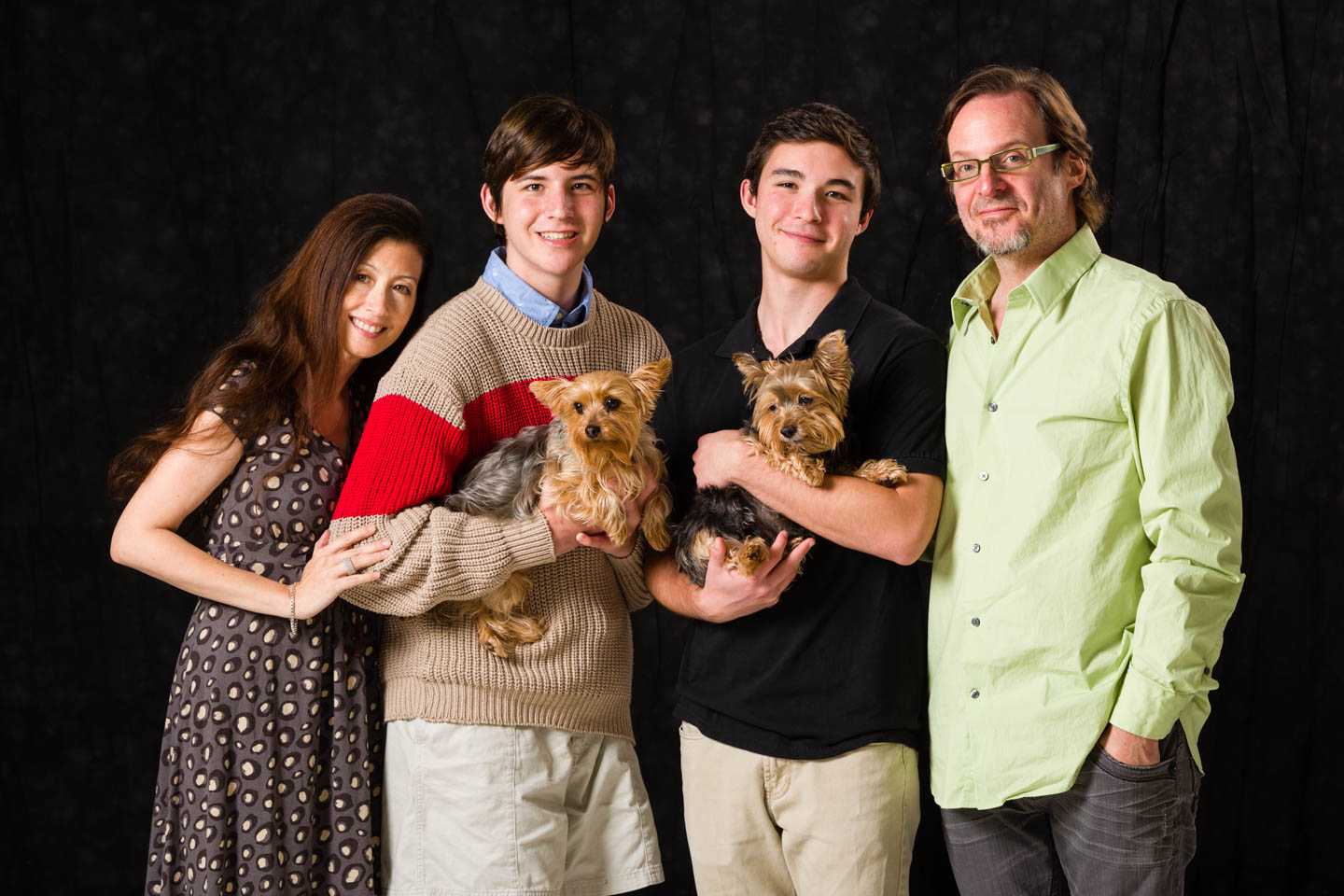 Family portraits with the family dogs