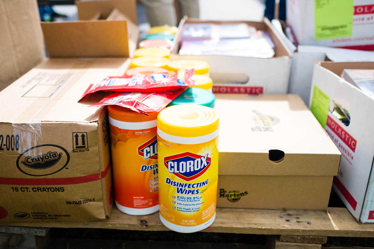 Supplies for donations