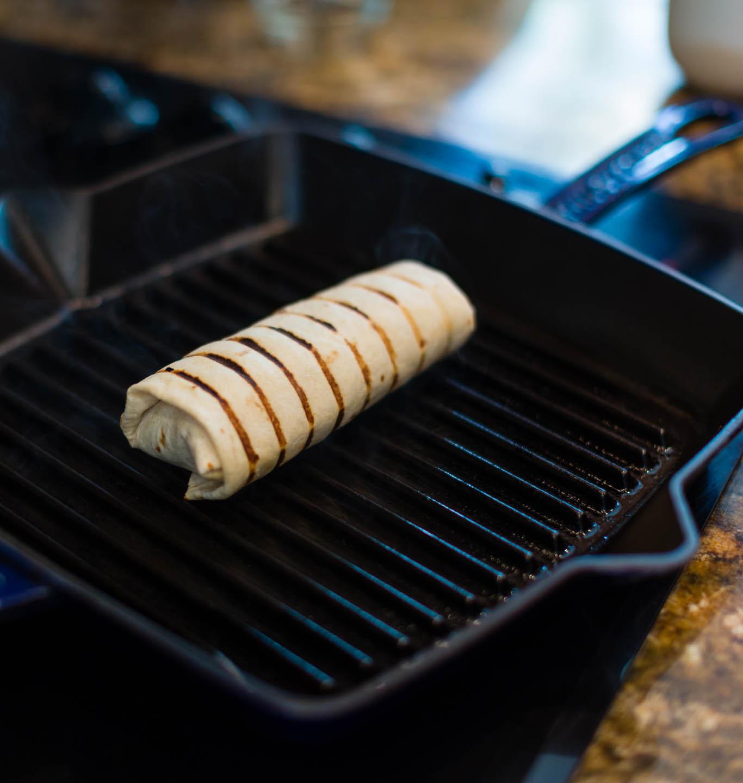 Grilling a Burrito