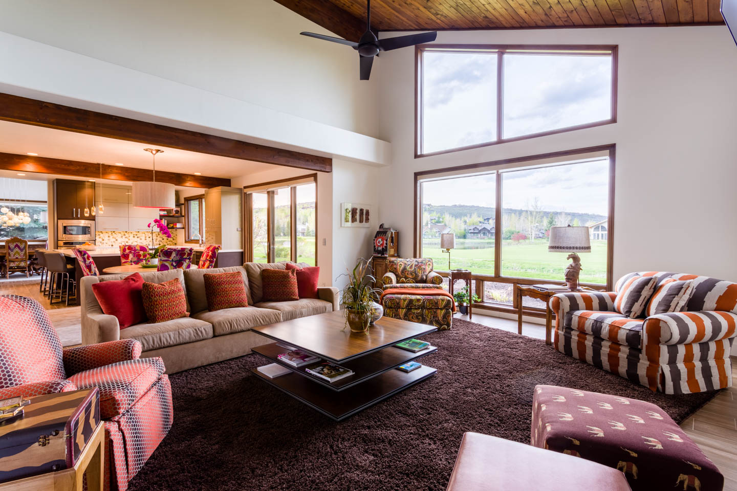 Family room and TV room in Park City Home