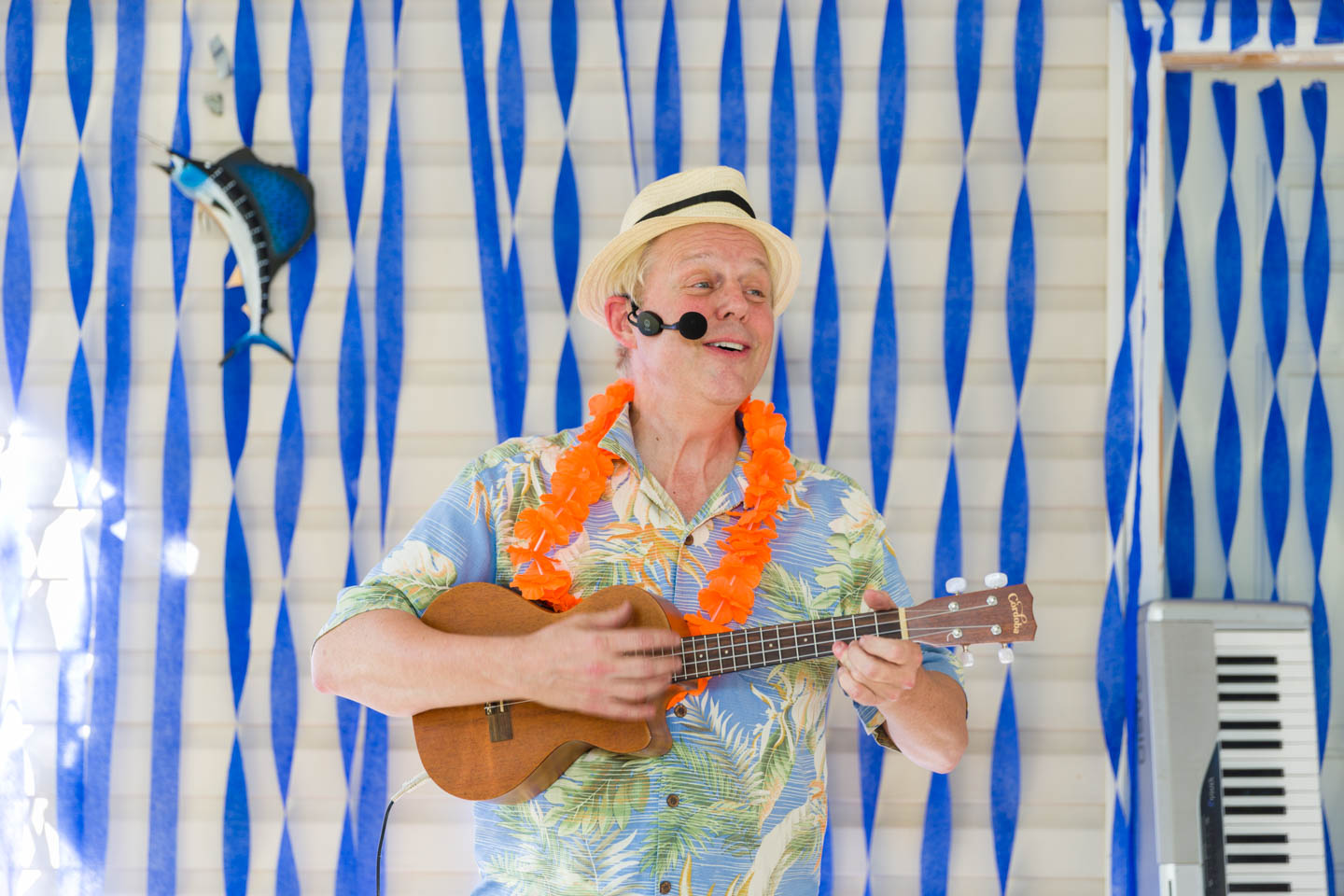 The Cabana band playing the ukulele