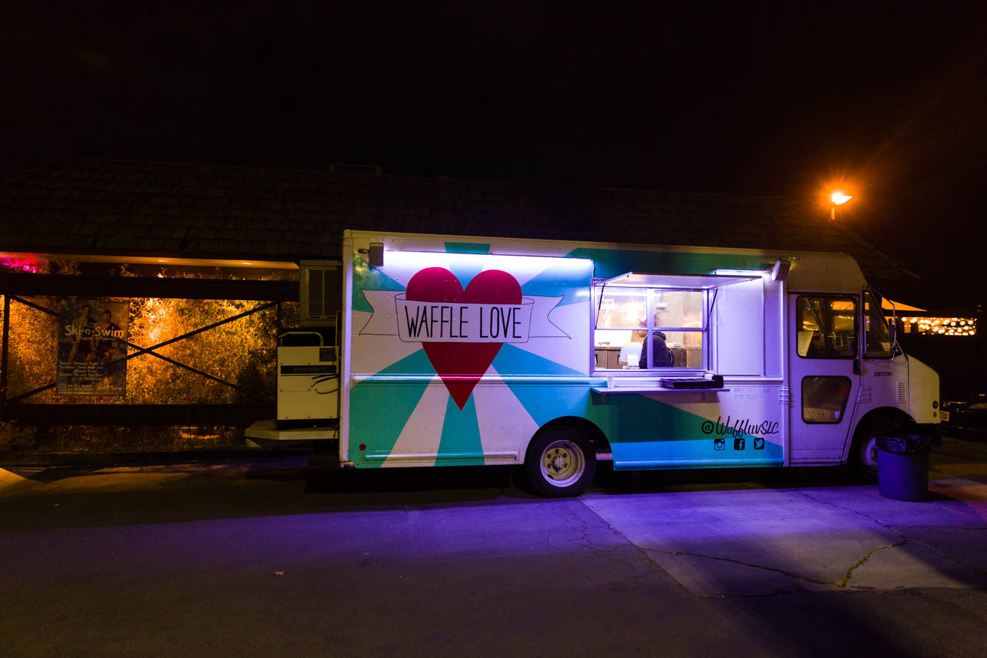 Waffle Love food truck at JAM