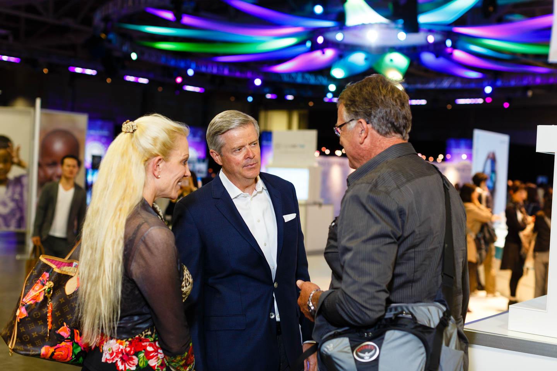 Company executives meeting with distributors