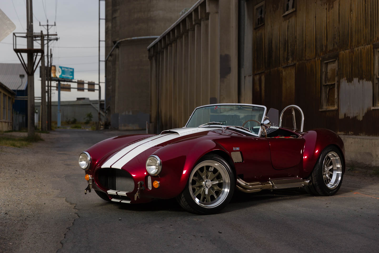 Candy red Shelby Cobra in all its glory