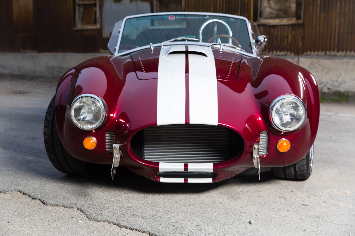 Front view of the Shelby Cobra