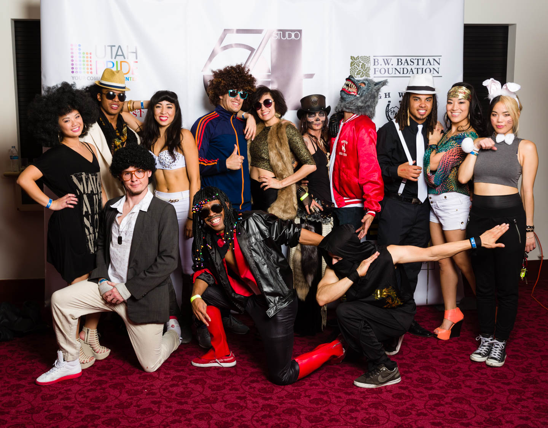 Group photo of Halloween people