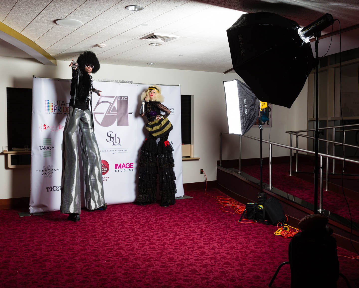 A behind the scenes photos of the photo booth