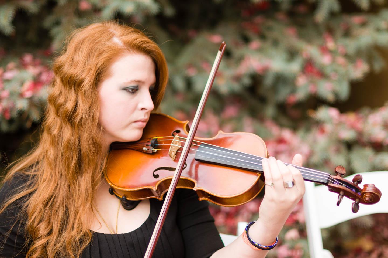 Violin at wedding