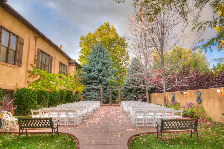 Outdoor wedding in October