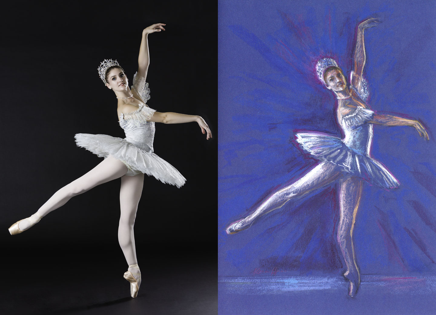 Before & After: Photograph to Pastel drawing