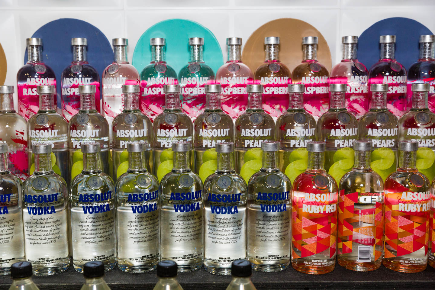 Bottles of Absolute Vodka