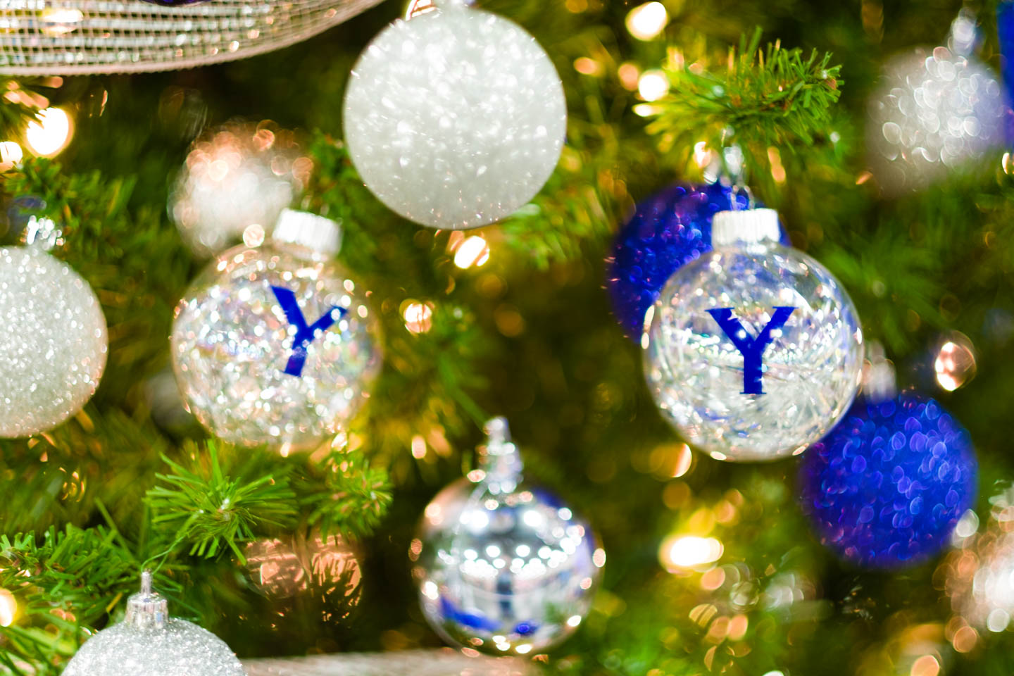 BYU Themed Christmas Tree