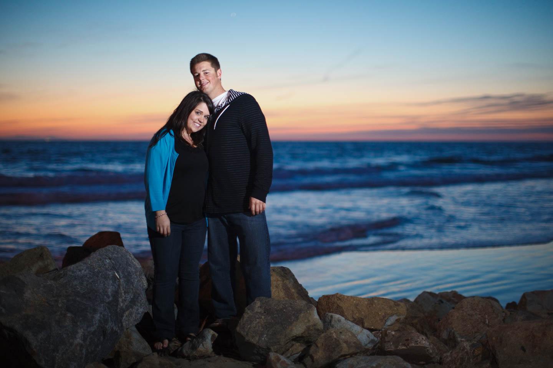 Lisa & Noah's engagement photo shoot in Newport Beach California