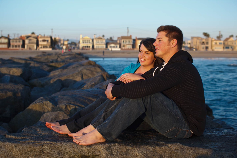 Engagement photos in Newport Beach California