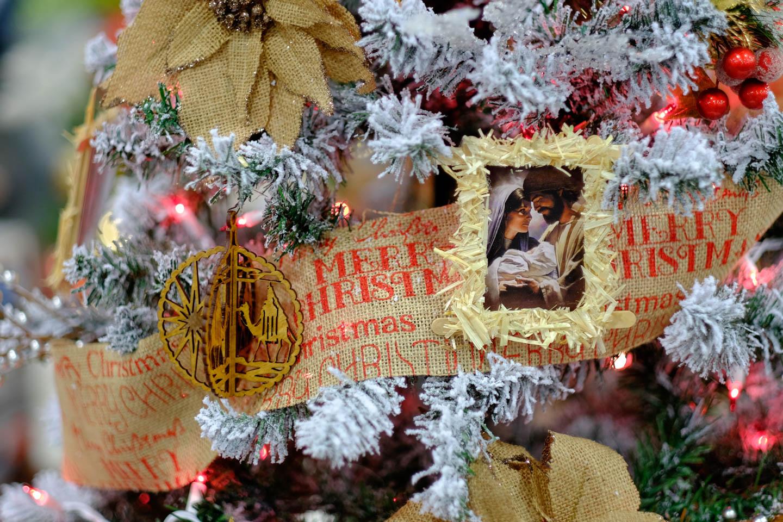 Jesus themed Christmas Tree