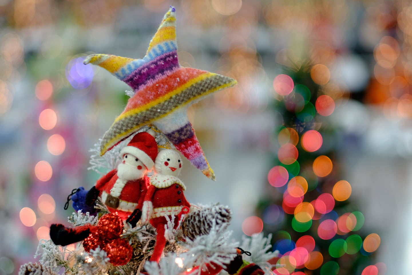Knitted Christmas Tree Topper