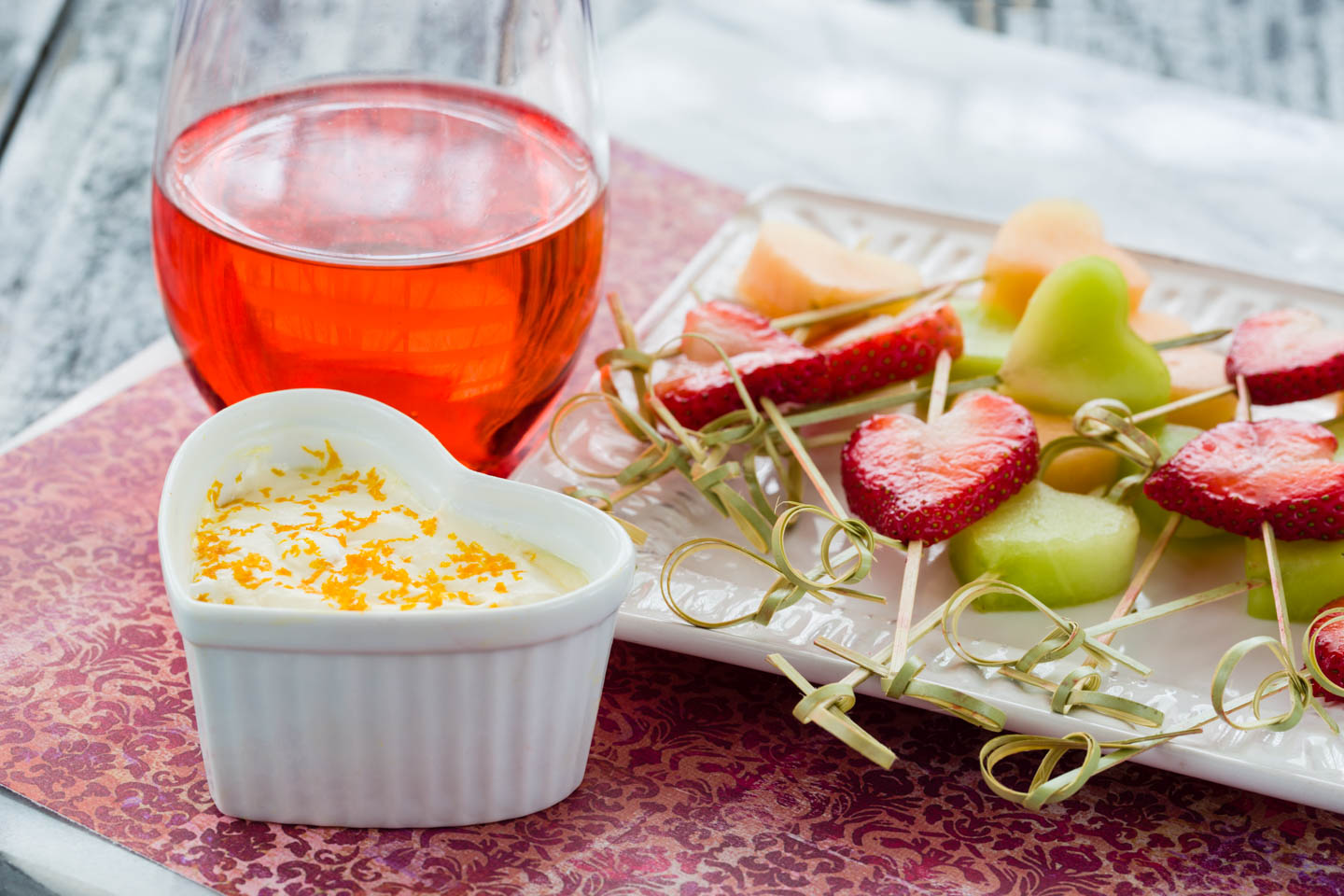 Heart Fruit Dip