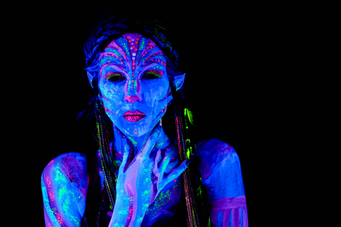 Avatar inspired blacklight model