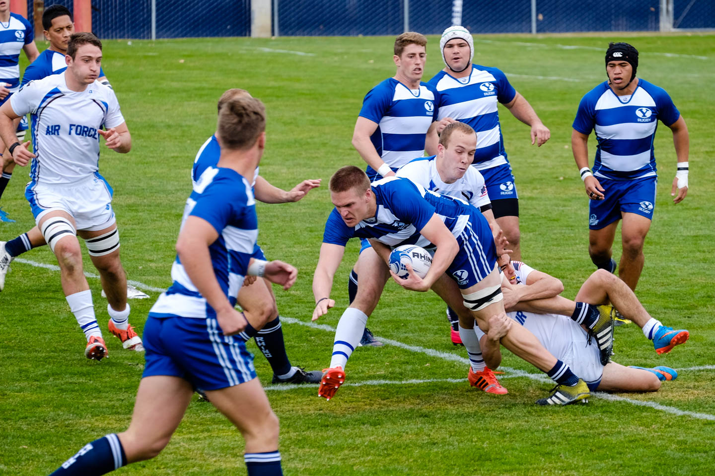 BYU Rugby runs the ball