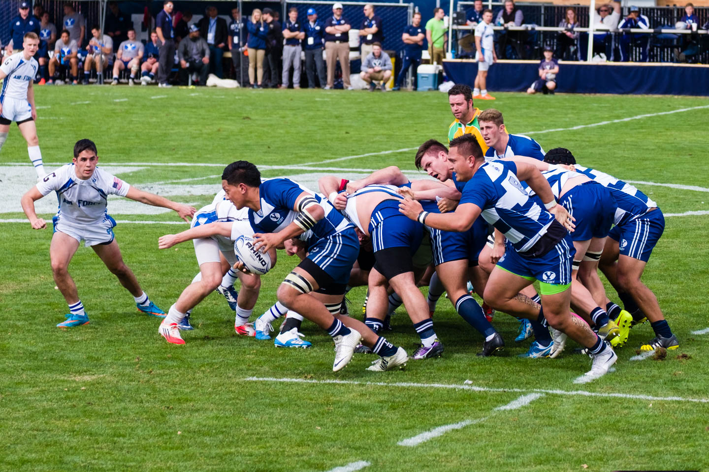After a scrum the ball is carried by BYU