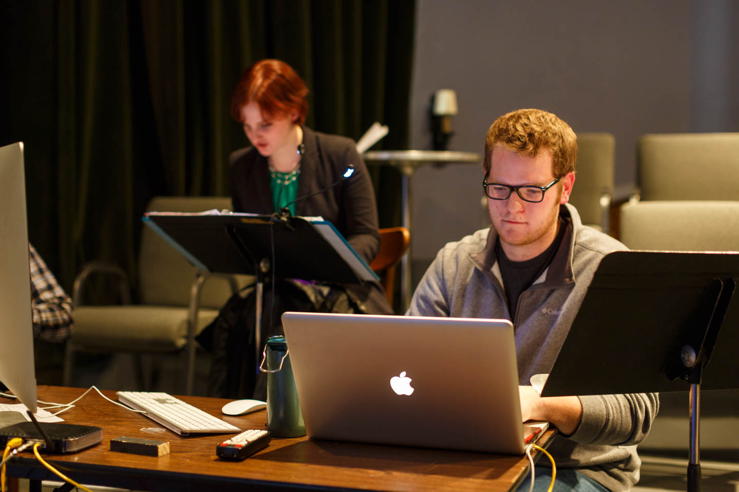 The digital team running sound, animation, lighting, and more
