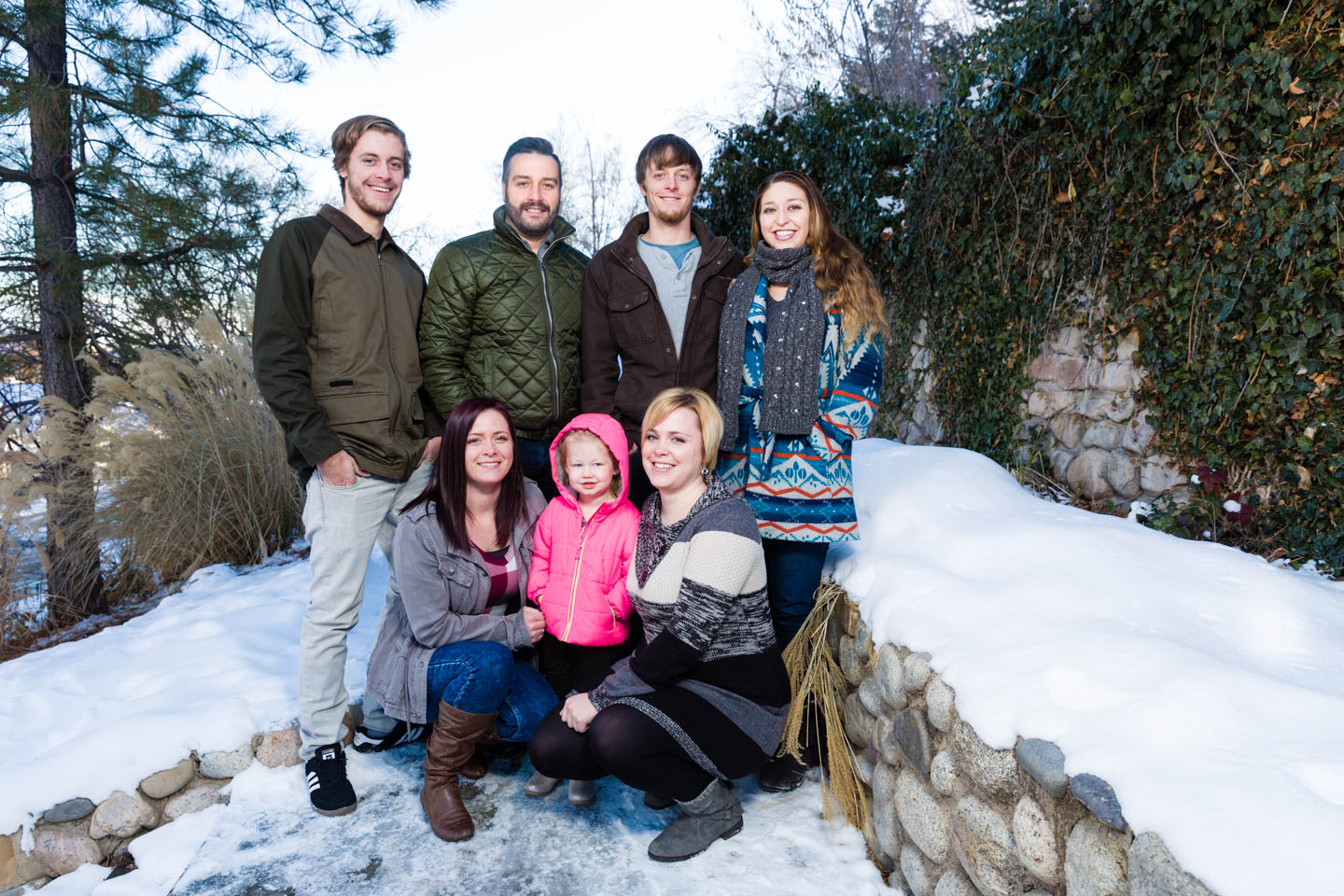 Family portraits at Memory Grove in the Winter