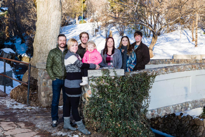 Winter time family portraits in January in Utah